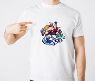 海昏人物故事卡通风格T恤